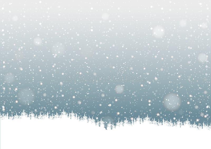 Fallender Schnee lizenzfreie abbildung
