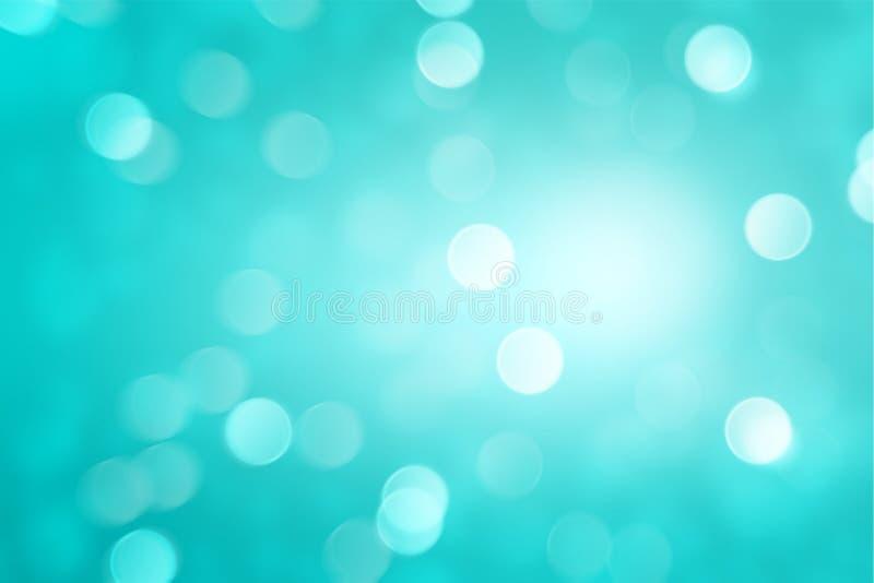 Fallender Schneeeffekt mit abstraktem Knickente bokeh Hintergrund vektor abbildung