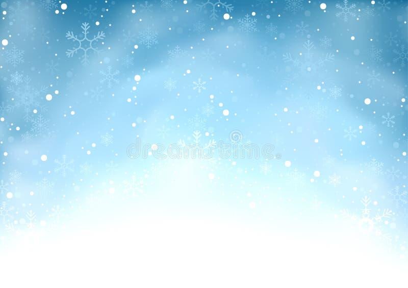 Fallender Schneehintergrund stock abbildung