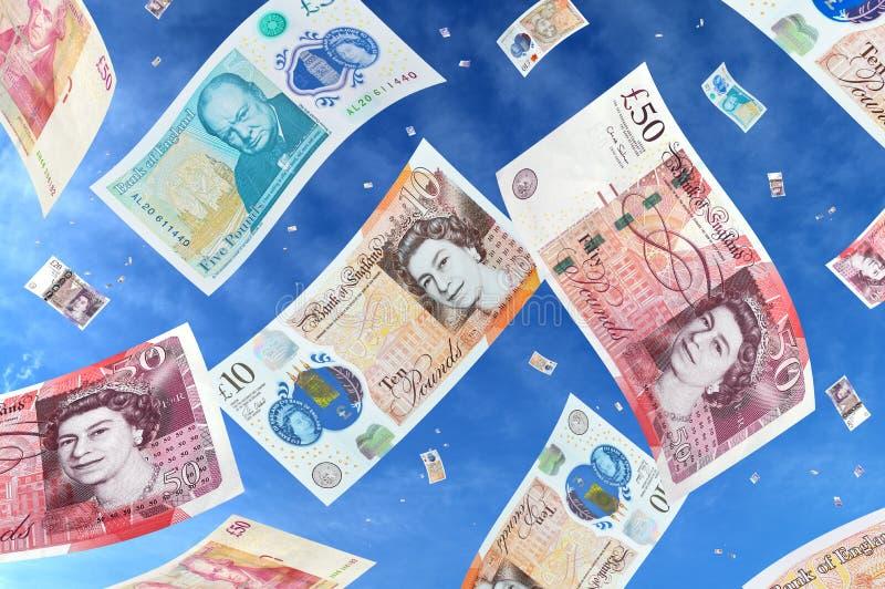 Fallendes Geld lizenzfreie stockfotos