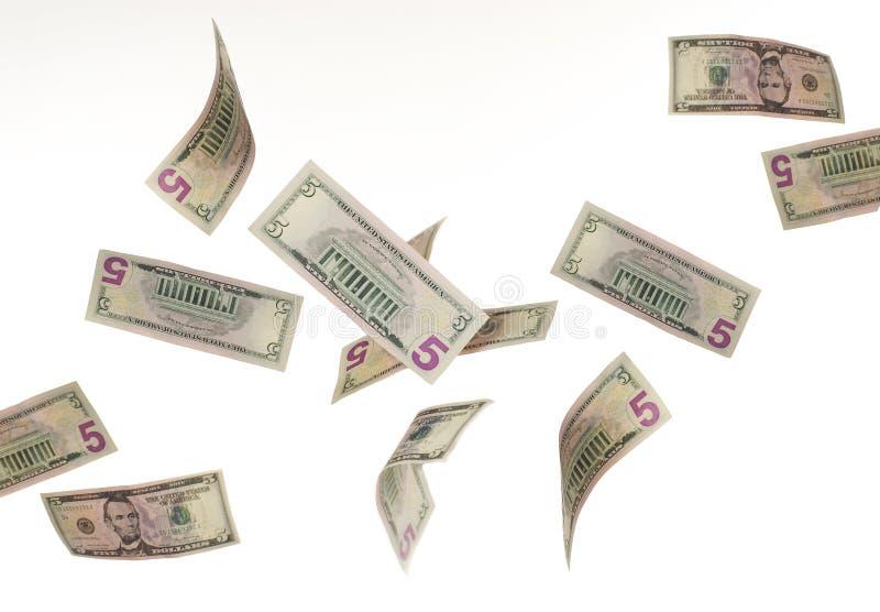 Fallendes Geld lizenzfreie stockfotografie