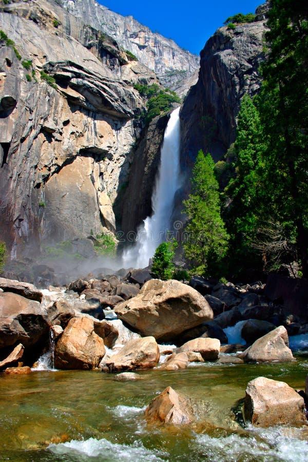 faller nationalparken yosemite royaltyfria foton