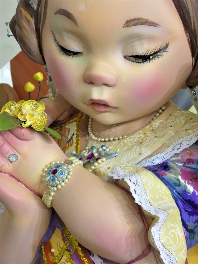 Fallera Infantil II - Front View stock afbeeldingen