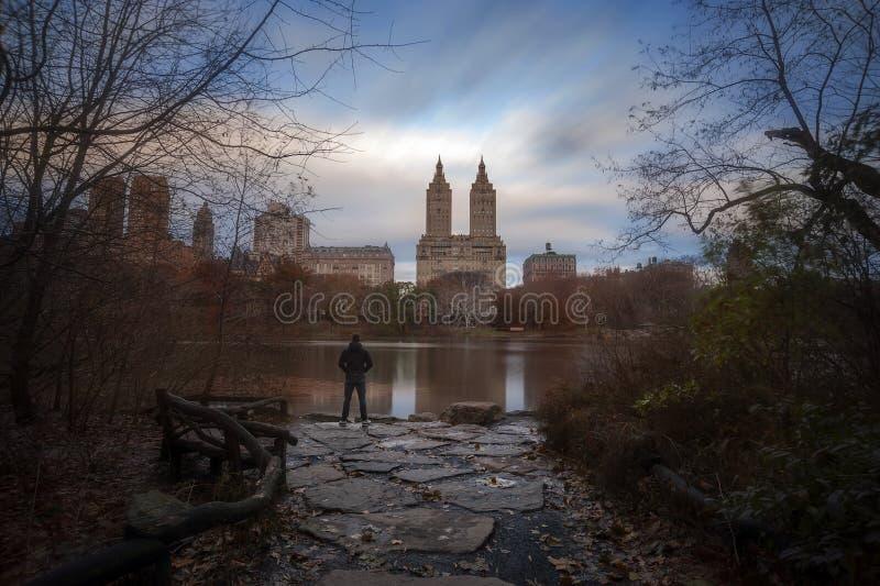 Fallfarben in New- York Citycentral park lizenzfreie stockbilder