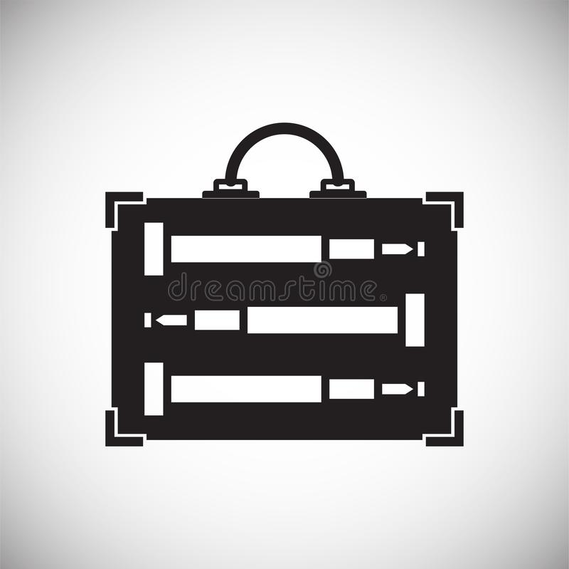 Fallikone auf Hintergrund für Grafik und Webdesign Einfaches Vektorzeichen Internet-Konzeptsymbol für Websiteknopf oder lizenzfreie abbildung