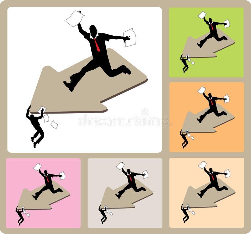 Fallimento di affari illustrazione vettoriale