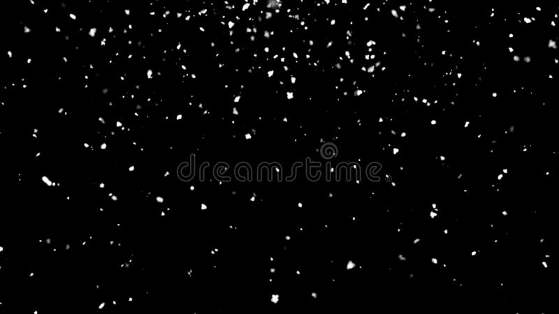 Falling atmospheric snow in space, computer generated abstract background, 3D rendering. Backdrop royalty free illustration