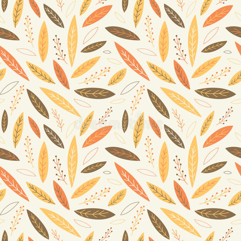 Falling autumn leaves seamless pattern. Vector illustration vector illustration