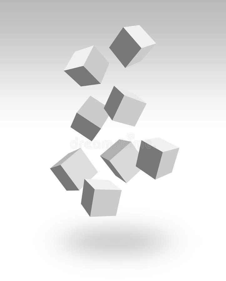 Falling boxes stock illustration