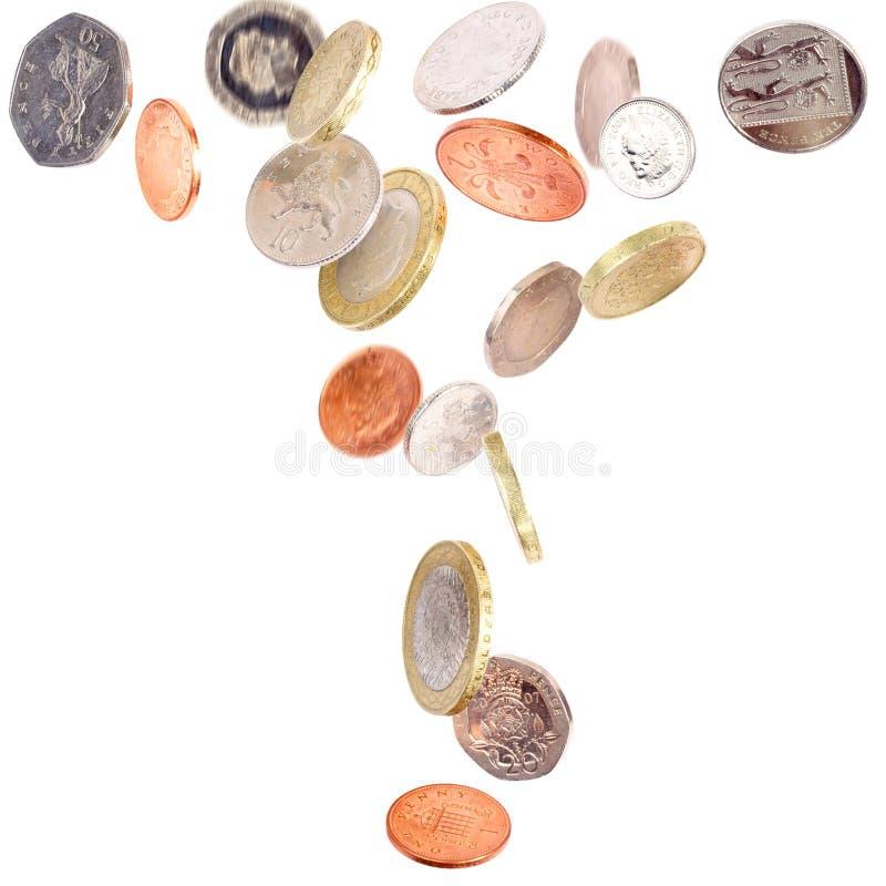 Download Falling British Coins stock photo. Image of ideas, treasure - 17058226