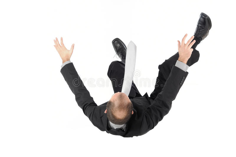 Falling, businessman stock photo