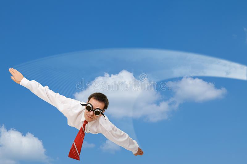 Falling businessman stock images