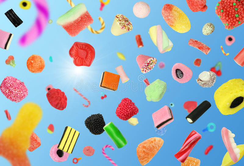 Falling Candy royalty free stock photos