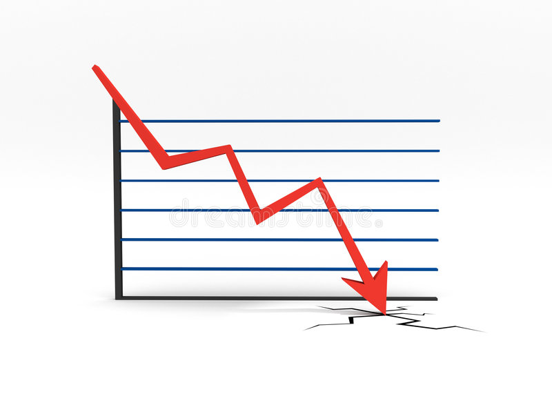 Falling Chart vector illustration
