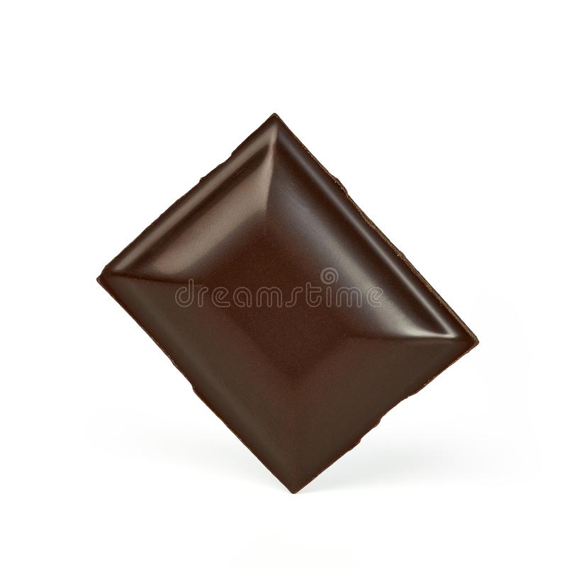 Falling chocolate tablet royalty free stock photos