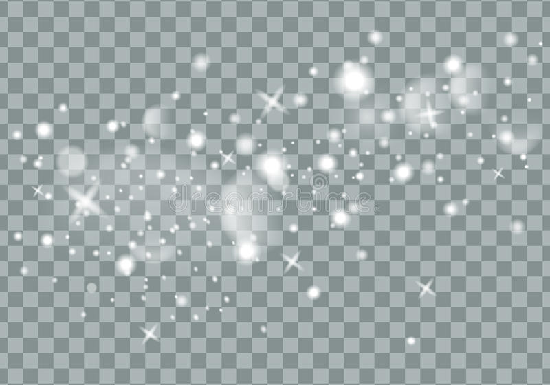 Falling Christmas Shining transparent beautiful snow isolated on transparent background. Snowflakes, snowfall. snowflake. Vector. Vector illustration stock illustration