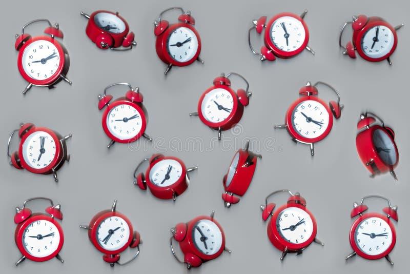 Falling clocks royalty free stock photo