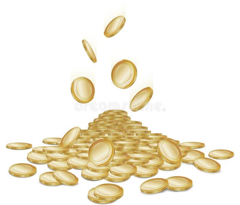 Falling Coins Royalty Free Stock Photos