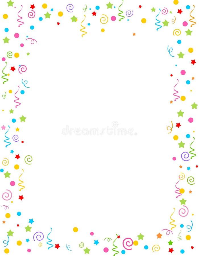 Falling Confetti border royalty free illustration