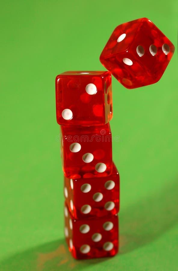 Falling dice stock photo
