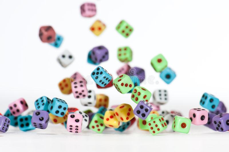 Falling Dices 4 stock photo