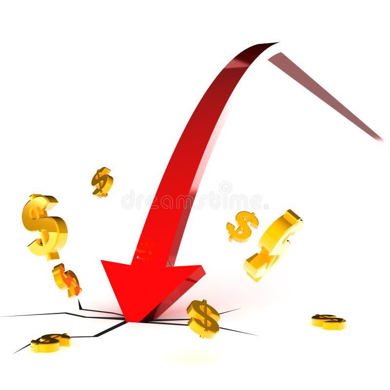 Download Falling Dollar stock illustration. Illustration of dollar - 20436985