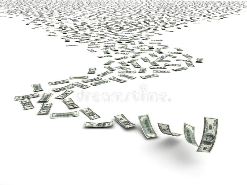 Download Falling Dollars Royalty Free Stock Photography - Image: 25636797
