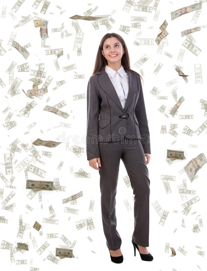 Falling Dollars Stock Photos