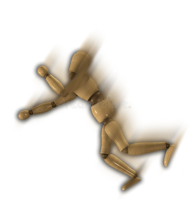 Download Falling Down Wooden Mannequin Stock Illustration - Image: 7275013
