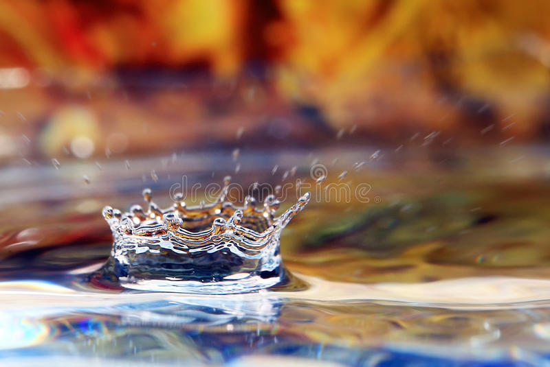 Falling drop of water. Close-up royalty free stock images
