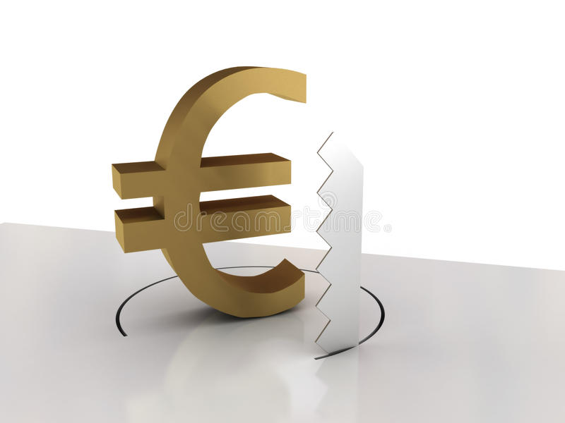 Falling of euro royalty free stock images