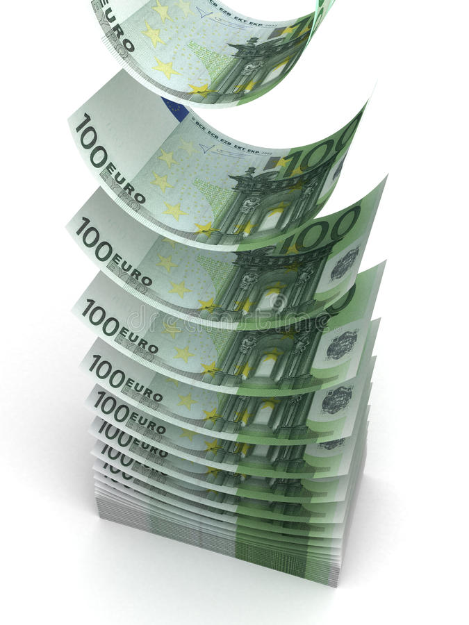 Download Falling Euro stock illustration. Image of paper, path - 25636297
