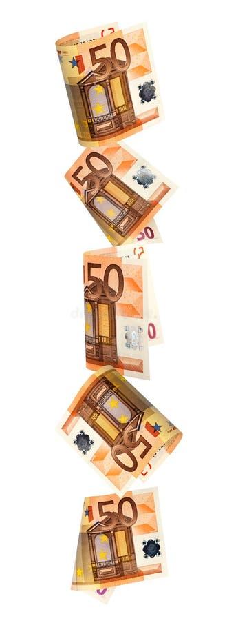 Download Falling Euros Border Over White Stock Photo - Image: 24572020