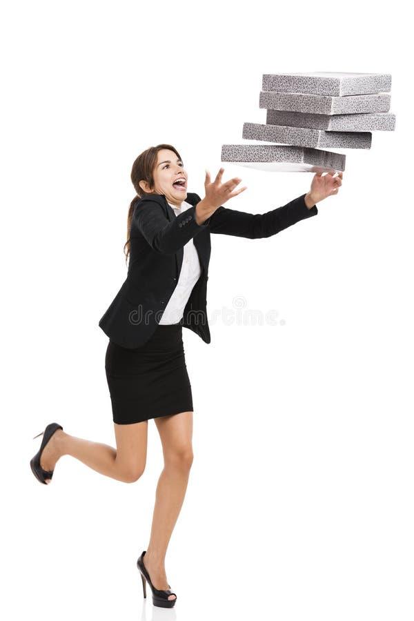 Falling folders royalty free stock photos