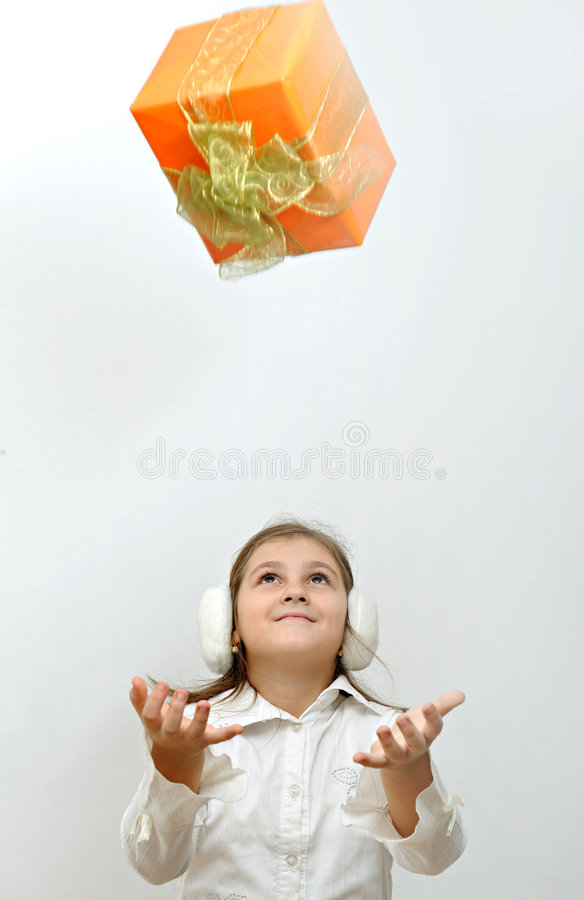 Download Falling gift box stock photo. Image of ornaments, close - 7406420
