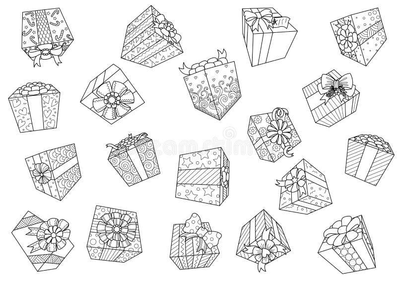 Falling gift boxes isolated on white background for design element.Vector illustration vector illustration