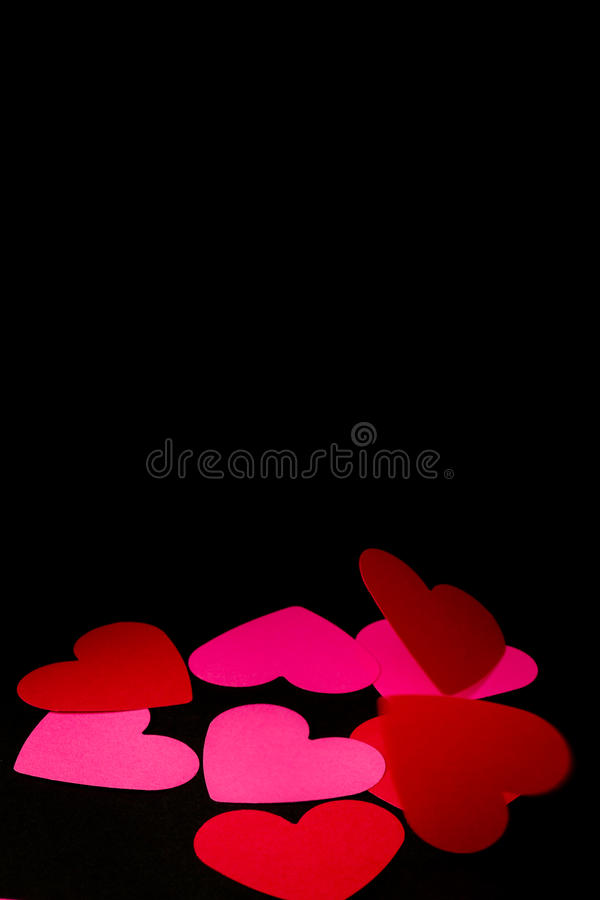 Download Falling hearts stock image. Image of background, hearts - 23268351