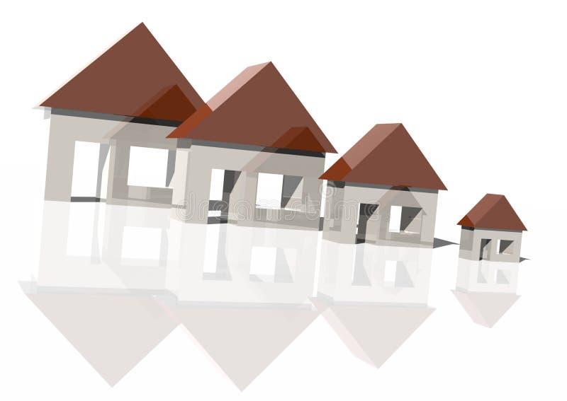 Download Falling house market stock illustration. Illustration of architecture - 5407746