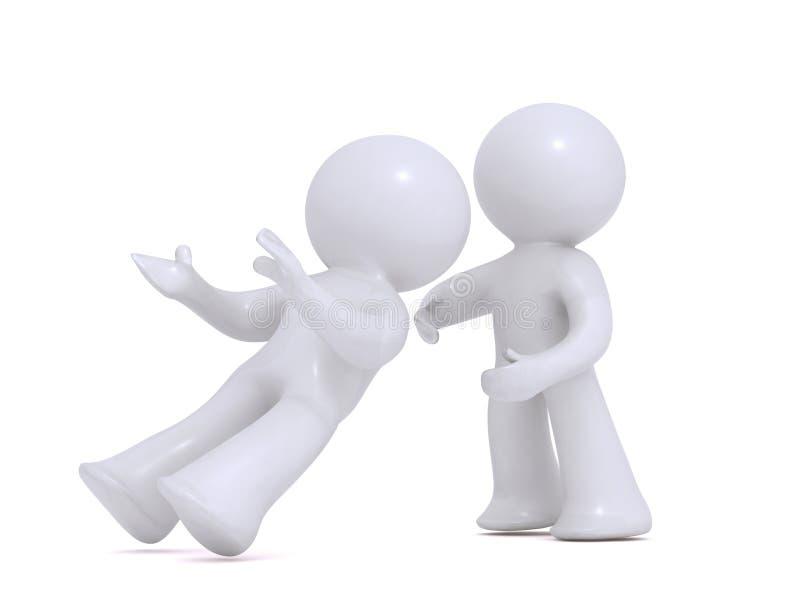 Download Falling Intro Trusting Hands Stock Illustration - Illustration of provide, corporate: 12059046
