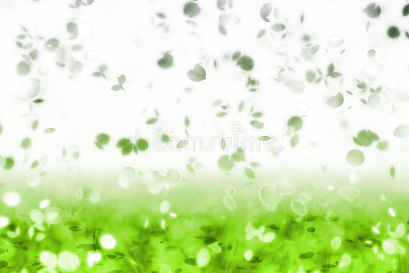 Falling Leaves. A Soft Falling Leaves Abstract Background Art vector illustration
