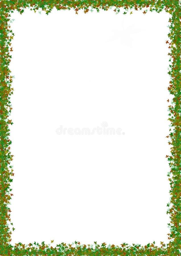 Falling Leaves Border royalty free stock image
