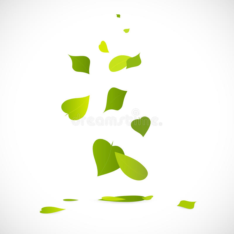 Falling Leaves. Illustration of a falling leaves on a white background vector illustration