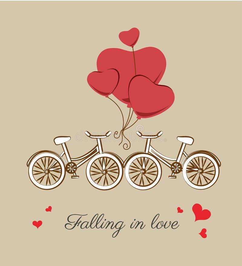 Falling in love vector illustration