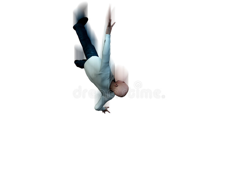 Falling Man 10. An conceptual image of a falling suicidal man vector illustration