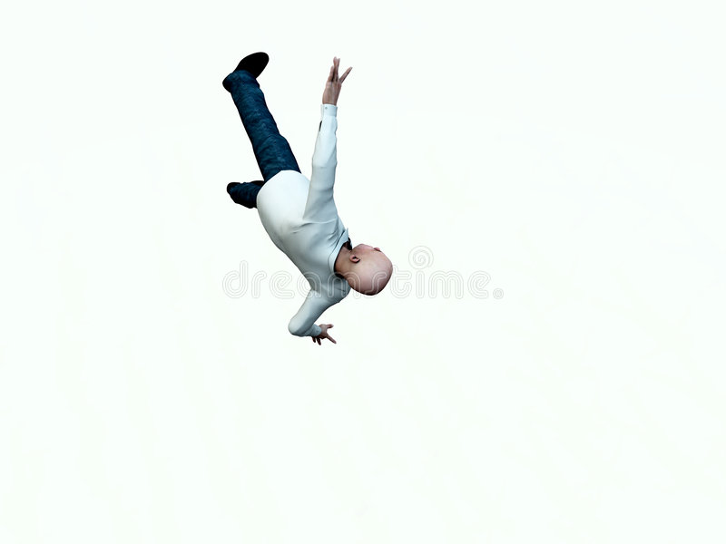 Falling Man 6 Stock Photo