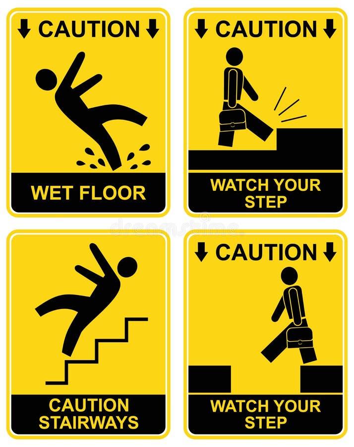 Free Falling Man - Caution Sign Stock Photos - 13356303