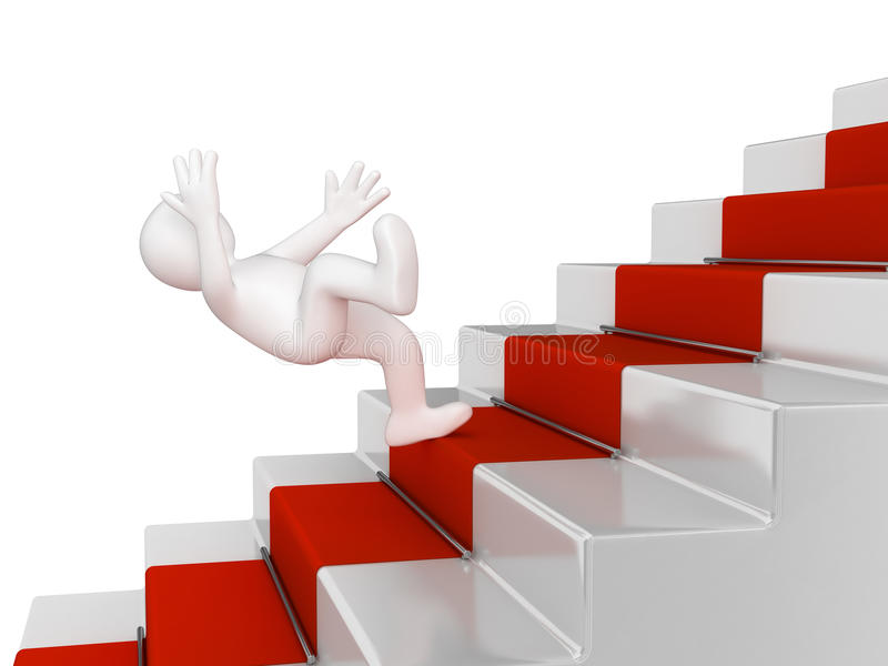 Falling man. Image with clipping path royalty free illustration