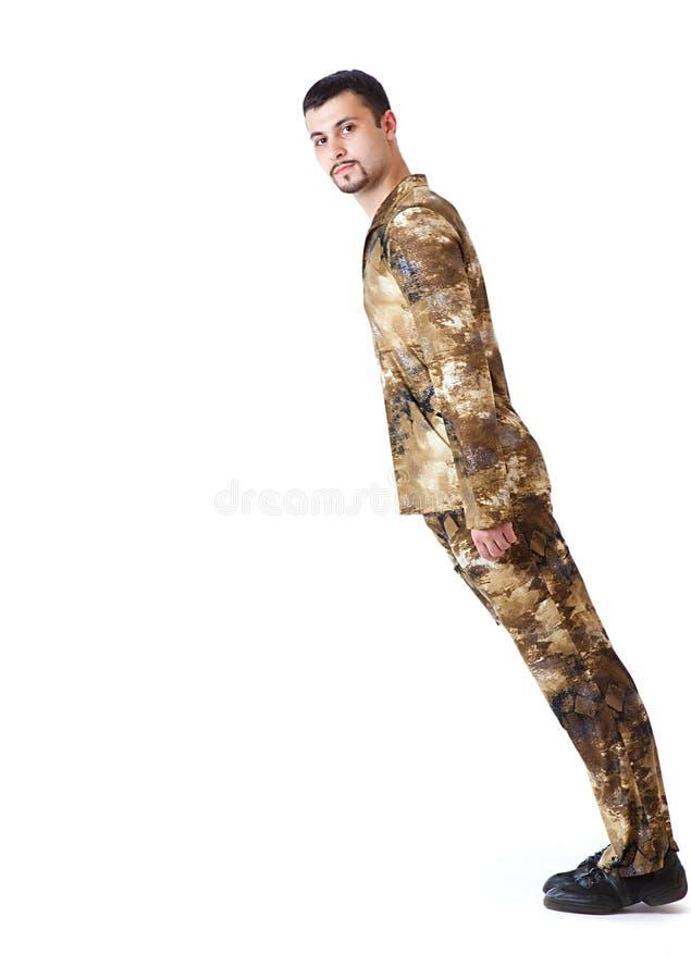 Download Falling Man In Military Uniform Stock Image - Image: 11594721
