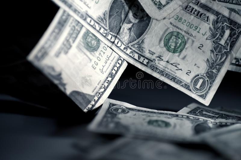 Falling Money stock images