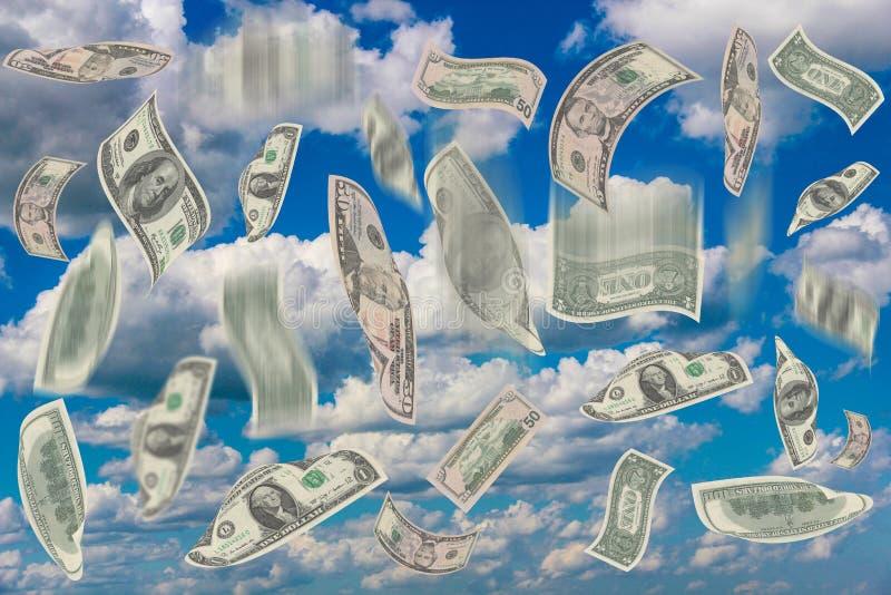 Falling money stock illustration
